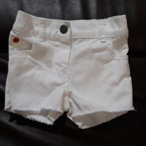 Carters white denim shorts